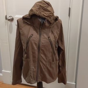 Volcom slouchy military style hooded cotton jacket
